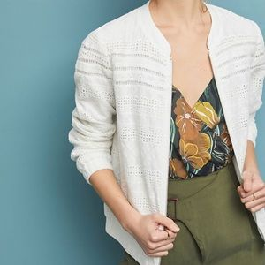 Anthropologie Skies are Blue eyelet white Jacket M